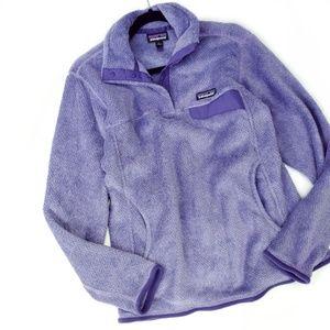Patagonia Purple Re-Tool Snap Fleece Pullover